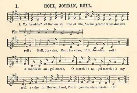 Roll Jordan Roll The Slave Song Lucy Mckim Taught The
